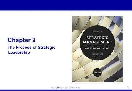 Copyright © 2012 Pearson Canada Inc. 0 Chapter 2 The Process of Strategic Leadership.