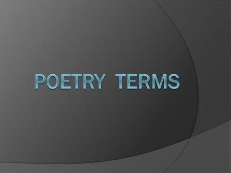 a small poem that displays the thoughts and feelings of the poet. Lyric Poetry.