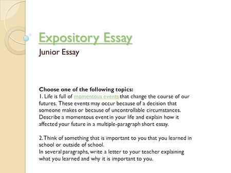 expository essay about music Below given is a range of elaborative questions for an expository paper about the influence of music on people's lives take them into consideration.