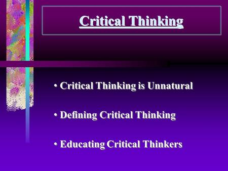critical thinking in career education the democratic importance of foundational rationality Paul, binker, charbonneau critical thinking handbook: k–3, a guide for remodeling lesson plans in language arts, social studies and science, published by the center for critical thinking and moral critique, 1987.