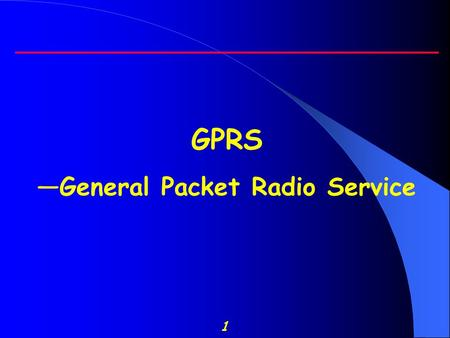 1 GPRS —General Packet Radio Service. 2 Outline  Introduction  GPRS Applications  GPRS normal service procedures  GPRS Architecture  GPRS protocol.