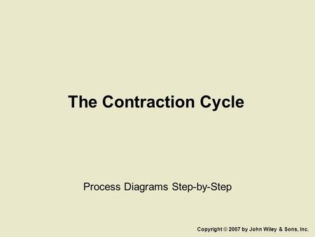The Contraction Cycle Process Diagrams Step-by-Step Copyright © 2007 by John Wiley & Sons, Inc.
