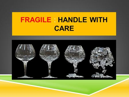 FRAGILE : HANDLE WITH CARE. PROGRAM NORMS  All participants need to be in the class by 9:00 a.m. sharp  No side conversations  Avoid religious and.