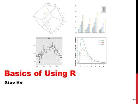Basics of Using R Xiao He 1. AGENDA 1.What is R? 2.Basic operations 3.Different types of data objects 4.Importing data 5.Basic data manipulation 2.