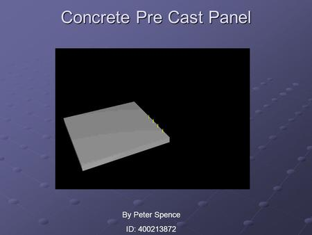 Concrete Pre Cast Panel By Peter Spence ID: 400213872.