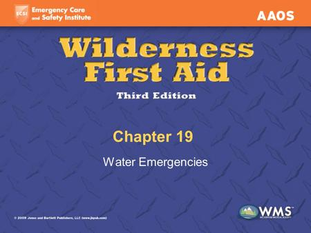 Chapter 19 Water Emergencies. Lesson Objectives Assess and manage submersion incidents. Assess and manage scuba diving injuries, including breathing-gas.