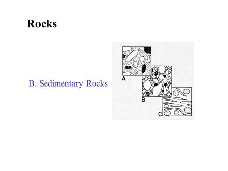 Rocks B. Sedimentary Rocks What are sedimentary rocks formed from? Where do sedimentary rocks form? How do you turn sediment into rock?