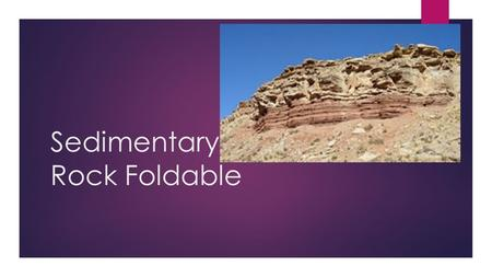 Sedimentary Rock Foldable