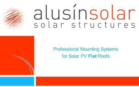 Professional Mounting Systems for Solar PV Flat Roofs 2.