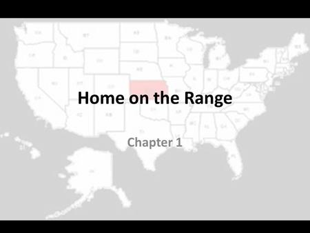 Home on the Range Chapter 1.