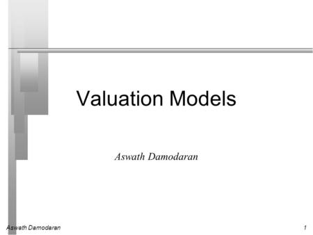Valuation Models Aswath Damodaran