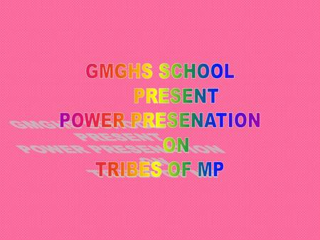 GMGHS SCHOOL PRESENT POWER PRESENATION ON TRIBES OF MP.