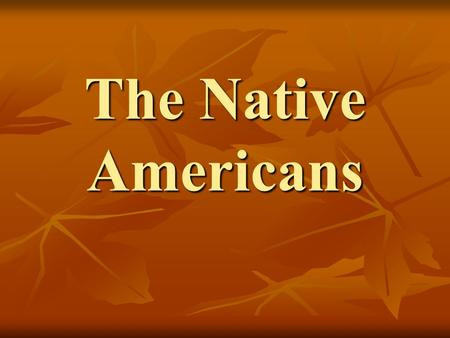 The Native Americans. Diversity Culture Culture Language Language Kinship system Kinship system Political - economic Political - economic In 1500 Native.