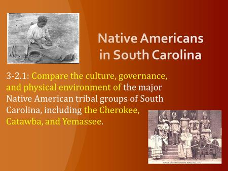 Native Americans in South Carolina