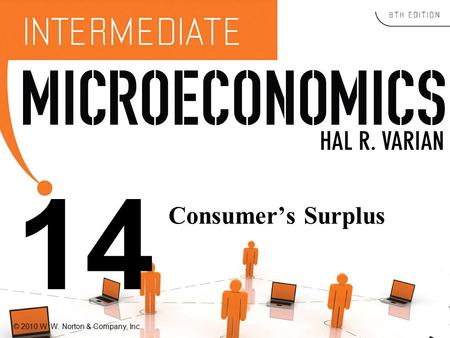 © 2010 W. W. Norton & Company, Inc. 14 Consumer's Surplus.
