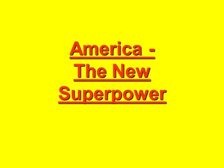America - The New Superpower. Post-War Problems Europe wanted Central Powers to pay reparations for damage caused during war Europe wanted to take all.