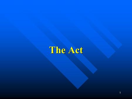 1 The Act. 2 Key impact areas Legal Accountability for Advisors who: Legal Accountability for Advisors who: –Mis-sell products –Give negligent advice.