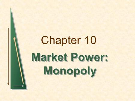 Market Power: Monopoly