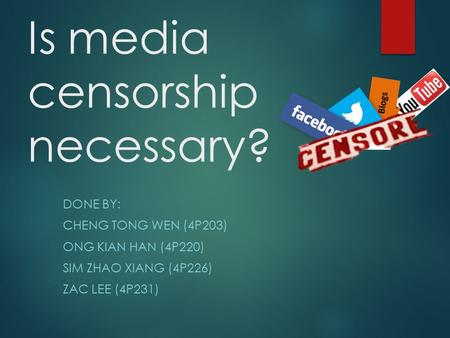 pros and cons of censorship essay