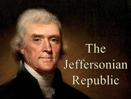 the triumph of thomas jefferson in america Thomas jefferson was very important because charlottesville was founded by thomas thomas jefferson was important to america because he wrote the declaration.