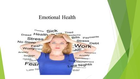 Emotional Health. Self Confidence  What does it mean?