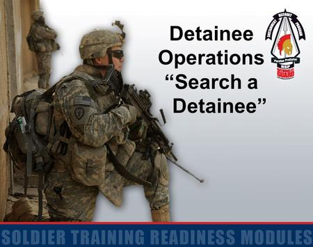 "Detainee Operations ""Search a Detainee""."