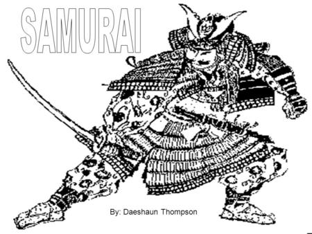 By: Daeshaun Thompson. In the Japanese Feudal system the Shogun ruled over the Daimyo who were head of the samurai. Peasants were farmers with little.