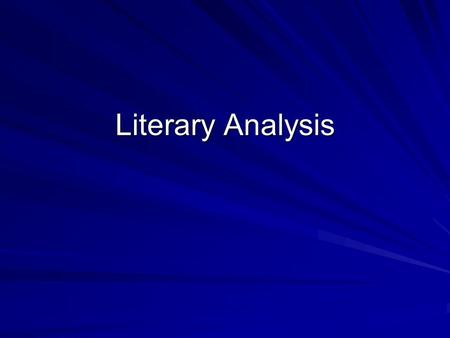 Literary Analysis. Research for information Read/review various texts and/or articles pertaining to the topic. Begin to narrow your focus through patterns.
