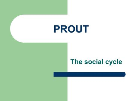 PROUT The social cycle. Prout Prout stands for Progressive Utilization Theory. According to Prout all the resources from humanity and the universe should.