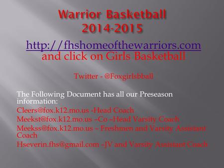 and click on Girls Basketball Twitter The Following Document has all our.