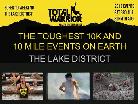 Events in the lake district 2013