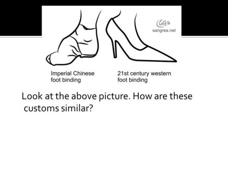 Look at the above picture. How are these customs similar?