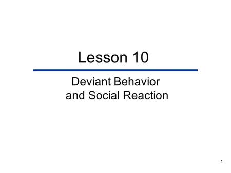 Essay/Term paper: Social deviance