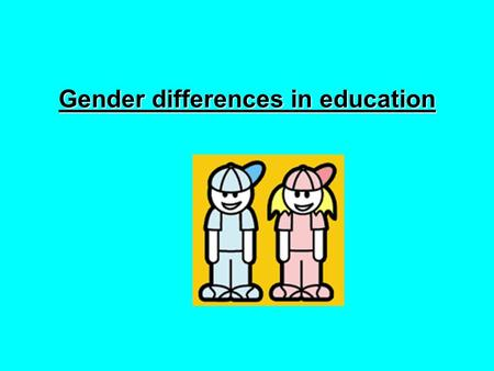 gender variances schooling articles