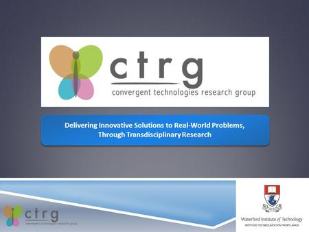 Delivering Innovative Solutions to Real-World Problems, Through Transdisciplinary Research Delivering Innovative Solutions to Real-World Problems, Through.
