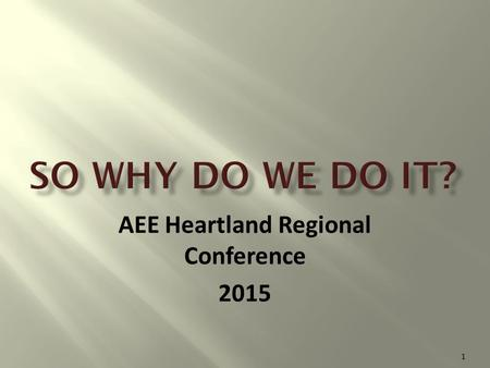 AEE Heartland Regional Conference 2015 1. 2 3 4.
