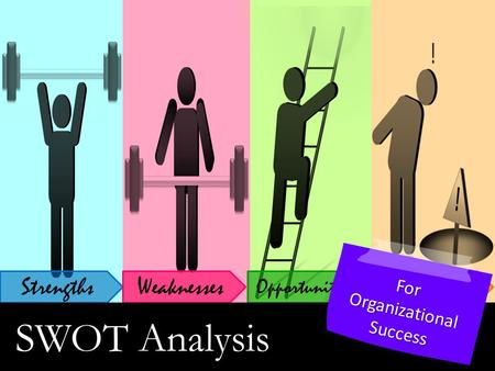 StrengthsWeaknesses Opportunities ! Threats SWOT Analysis For Organizational Success.