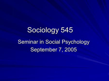 social psych crash movie Develop an active, integrative understanding of the many topics of social psychology and to think like social psychologists research foci.