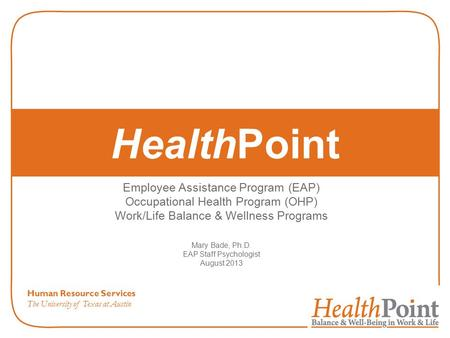 HealthPoint Employee Assistance Program (EAP)
