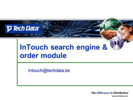 InTouch search engine & order module