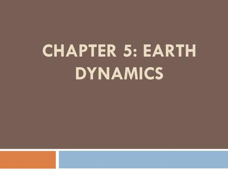 CHAPTER 5: EARTH DYNAMICS. LESSON 1: FORCES THAT SHAPE EARTH.