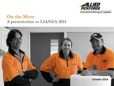 On the Move A presentation to LIANZA 2014 October 2014.