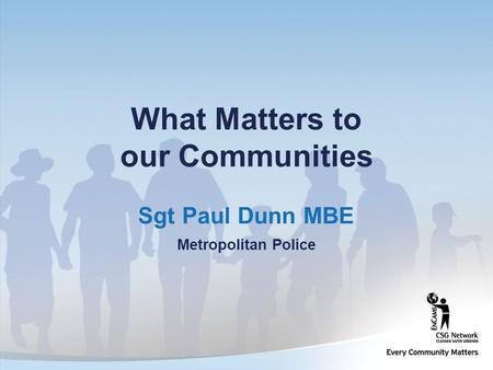 What Matters to our Communities