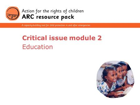 Critical issue module 2 Education.