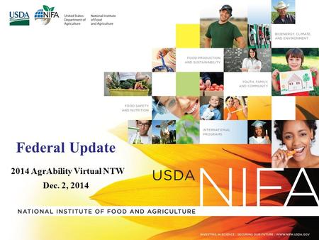 Federal Update 2014 AgrAbility Virtual NTW Dec. 2, 2014.