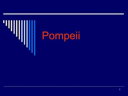 1 Pompeii. 2 3 Outline  Introduction  Part I. The city  Part II. The destruction of Pompeii  Part III. The excavation  Conclusion  References.