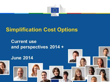 © Shutterstock - olly Simplification Cost Options Current use and perspectives 2014 + June 2014.