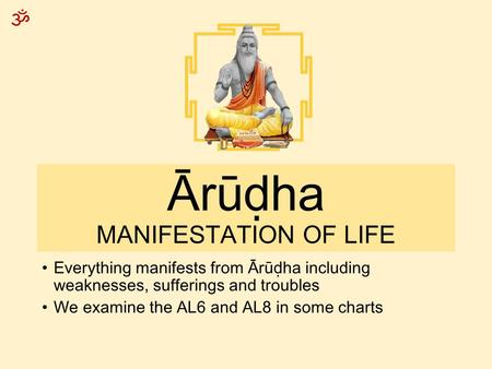 Ārūḍha MANIFESTATION OF LIFE