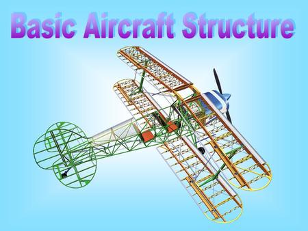 Outline of Presentation  Aircraft Components  Material use in Airframe Construction  Example of Material use in Airframe Construction  Fuselage Structure.
