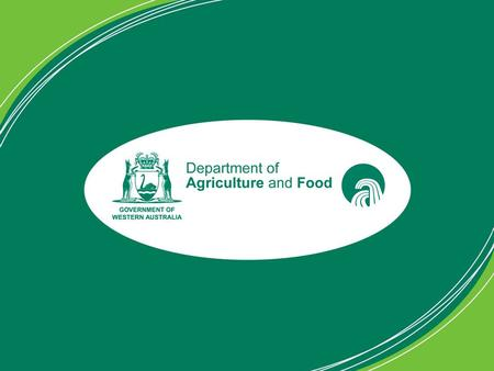 Whassup DAFWA? Spatial data in the Department of Agriculture and Food WA February 2010.